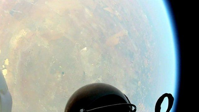 View of the earth from head camera shot