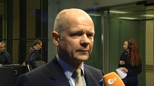 Foreign Secretary, William Hague