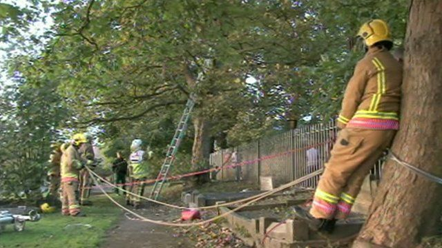 Firefighters rescue Liam