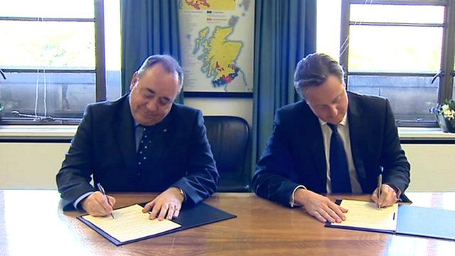 First Minister Alex Salmond and Prime Minister David Cameron