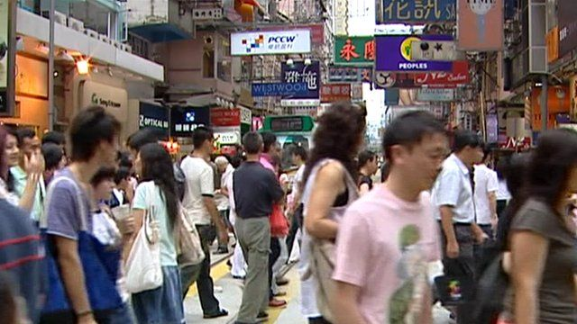 Commuters in Hong Kong