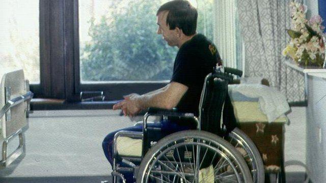 A man in a wheelchair (generic)