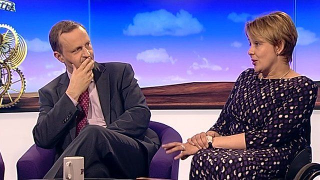 Steve Webb and Tanni Grey-Thompson