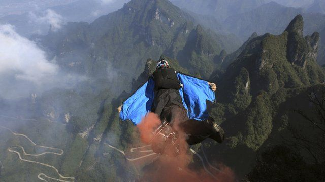 Man in wingsuit