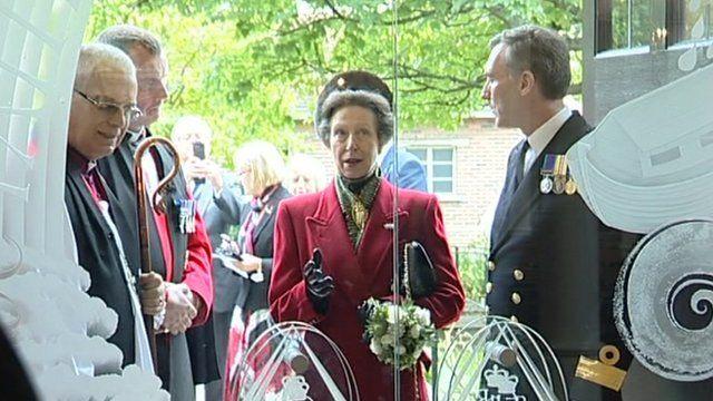 Princess Ann at the Church of St Ann at Portsmouth naval base