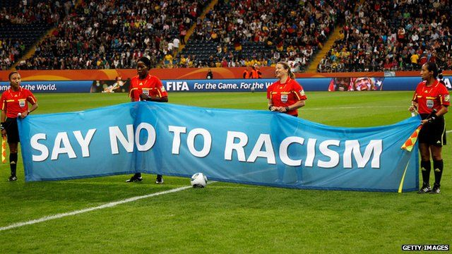 Say no to racism banner