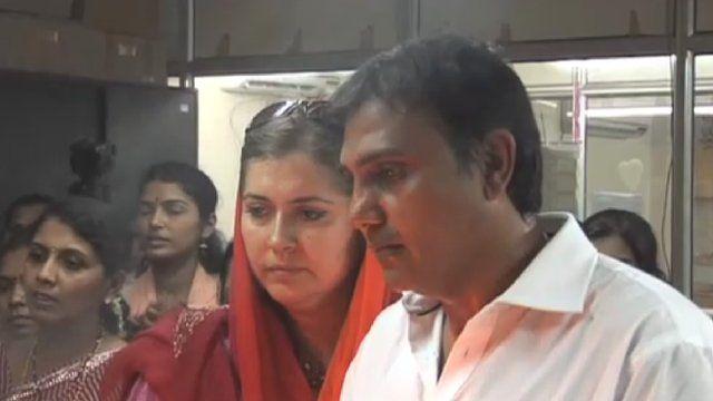 Rahul and wife