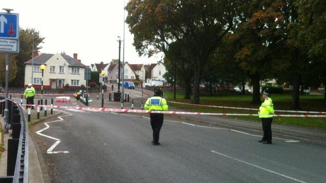 Police have sealed roads in Cardiff