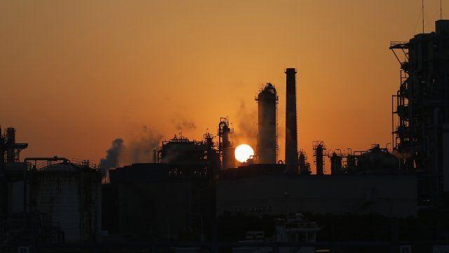Oil plant near Tokyo