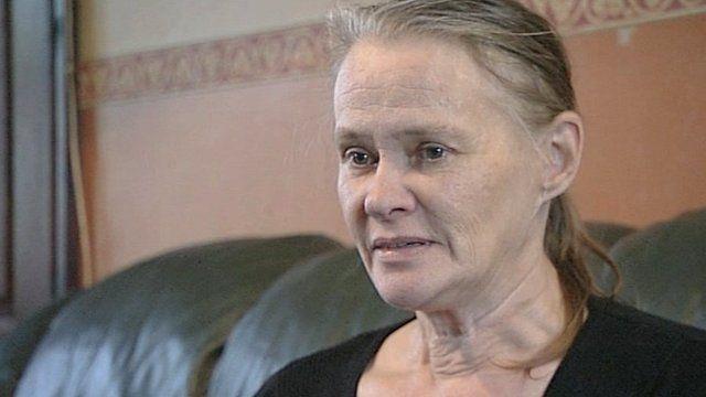 Karin Ward speaking to Newsnight in November 2011