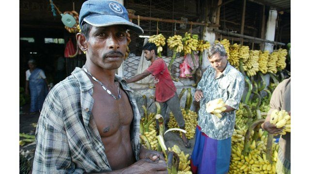 Market trader in Colombo