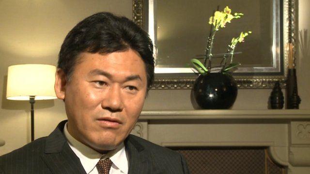 Hiroshi Mikitani, chief executive of Rakutan