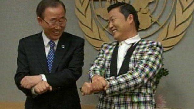 Ban ki-Moon and Psy