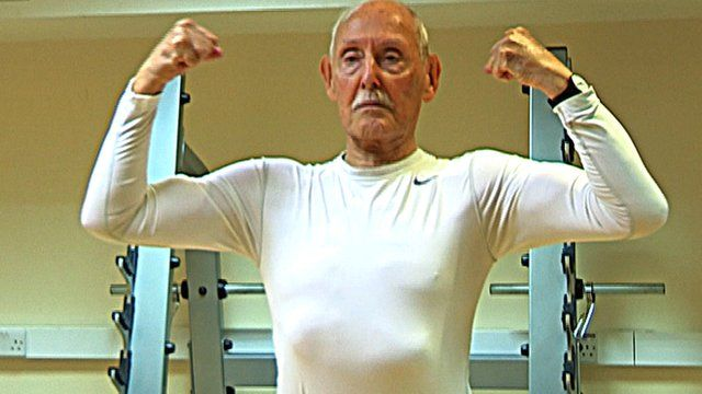 Dr Eugster, 93 year-old body builder