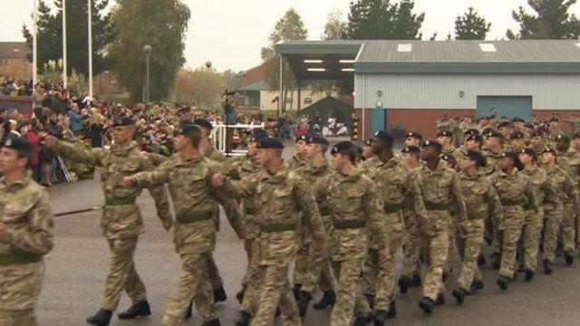 Parade for Army medics in Aldershot