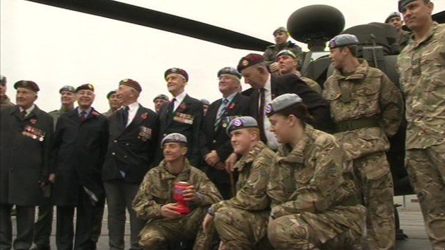 Glider pilots and regiment veterans launch the poppy appeal