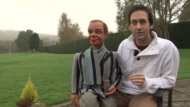 Ventriloquist Steve Hewlett with Archie Andrews