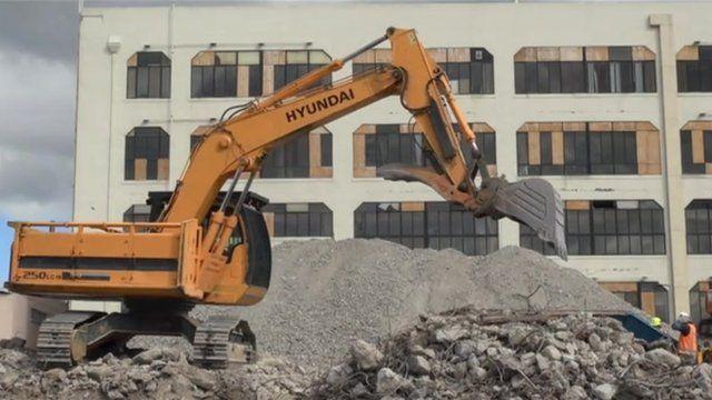 Mechanical digger in Christchurch