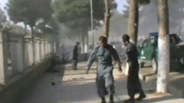 Scene of suicide bombing in Maymana, Faryab, on 26/10/12