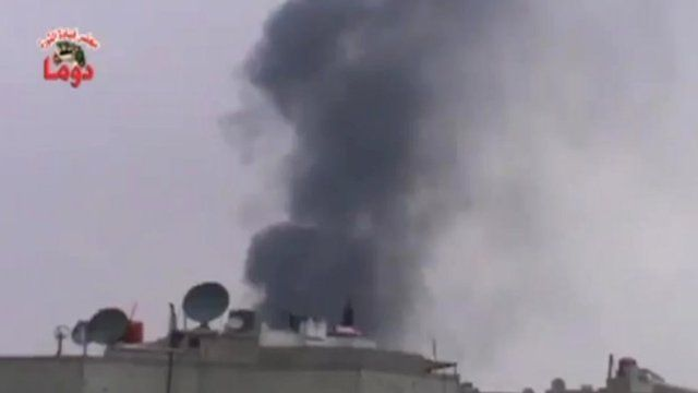 Footage purporting to show the ceasefire being broken