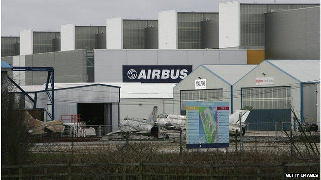 Airbus factory at Broughton, Flintshire