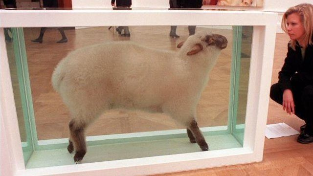 Away from the Flock by Damien Hirst