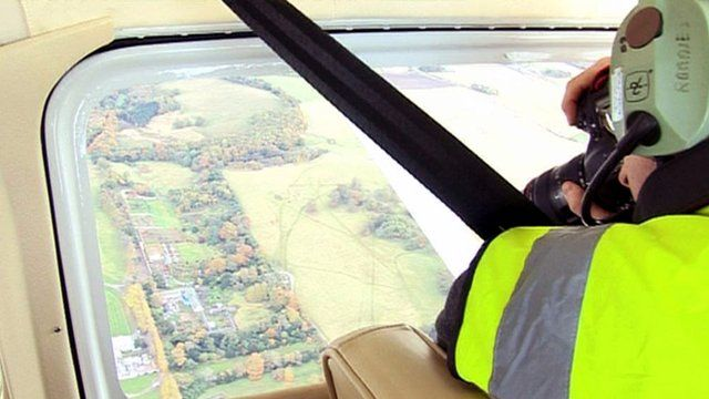 Aerial archaeologist Dave Cowley