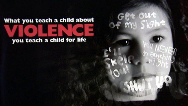 Domestic violence awareness campaign poster
