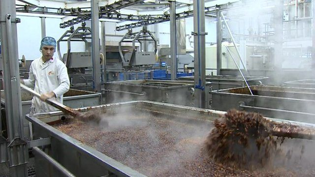 Branston Pickle in production