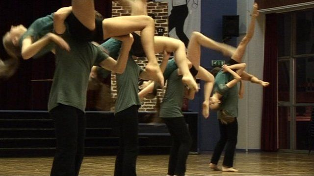 Students from Quay Theatre Arts in Weymouth
