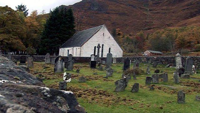 The graveyard at Arnisdale
