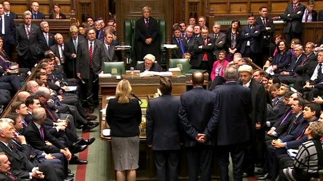 MPs in parliament before vote announced