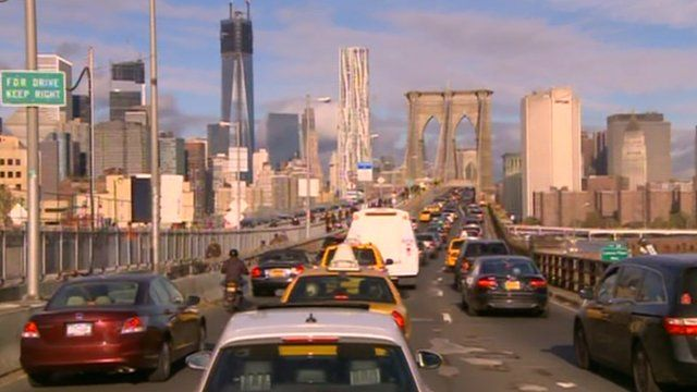 Heavy traffic in New York