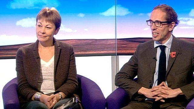 Caroline Lucas and James Delingpole