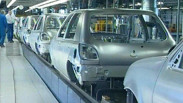 Dagenham Ford factory production line
