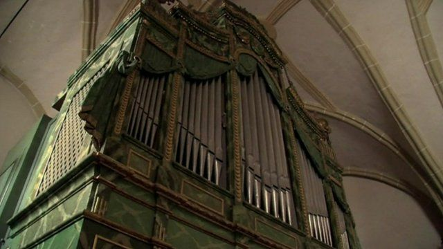 Old organ in Transylvania