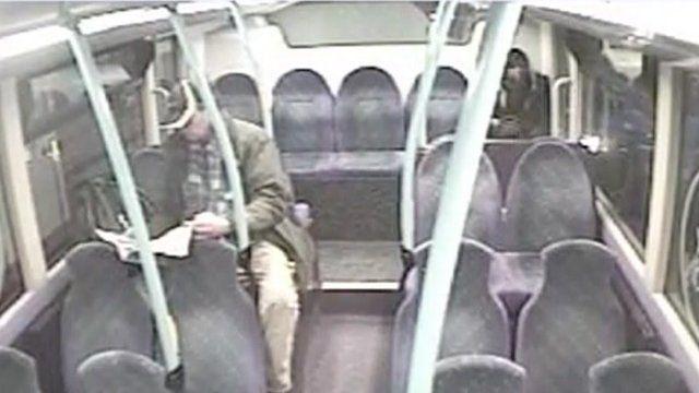 Stephen Farrow on a bus