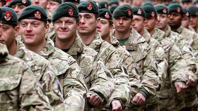 Soldiers from the 3rd Battalion The Rifles