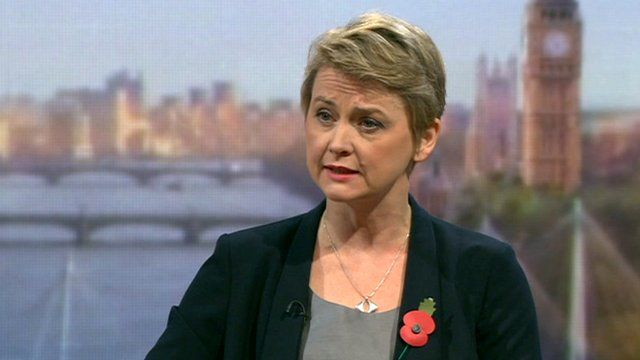 Shadow home secretary Yvette Cooper on the Andrew Marr Show
