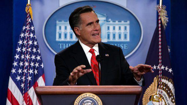 Mocked-up image of Mitt Romney at the White House