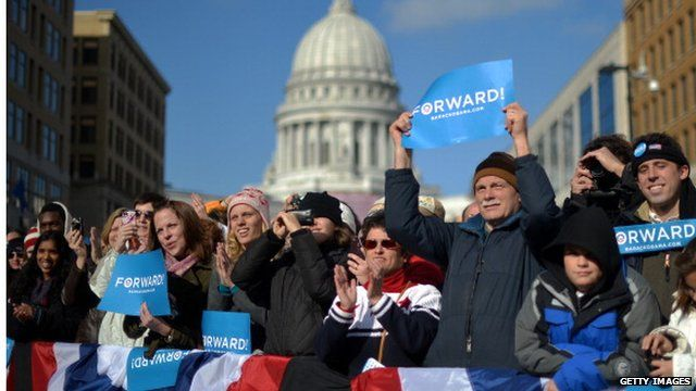 Obama supporters in Washington
