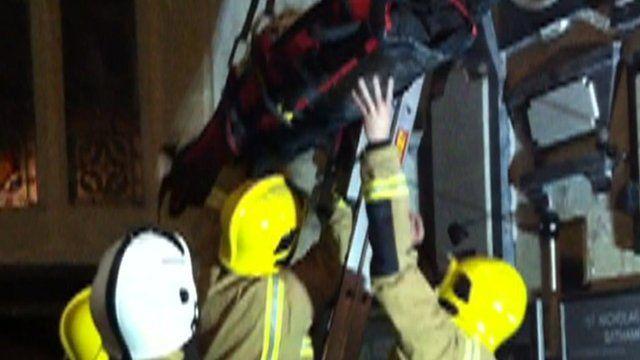 Firefighters rescue Helen Springthorpe