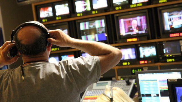 BBC control room