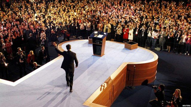 Republican presidential nominee Mitt Romney delivers his concession speech