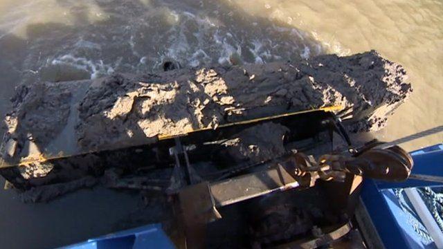 Dredging equipment at Gloucester Docks