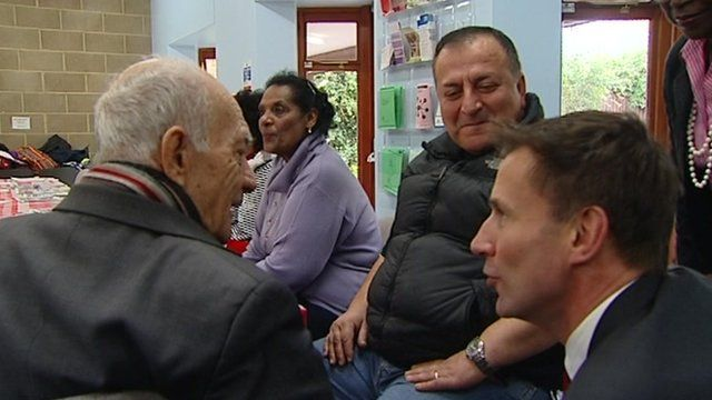 Jeremy Hunt meets dementia patients and their families