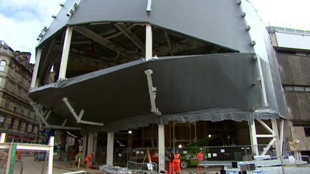 New Street station's new facade
