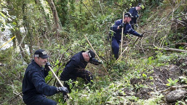North Wales Police officers during the search for Catherine Gowing