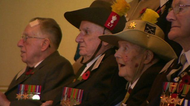 World War II veterans at Buckingham Palace reception