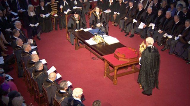 The Silent Ceremony where new Lord Mayor of London Roger Gifford has been sworn in